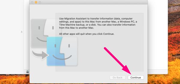 Data migration for Mac - choose Migration Assistant