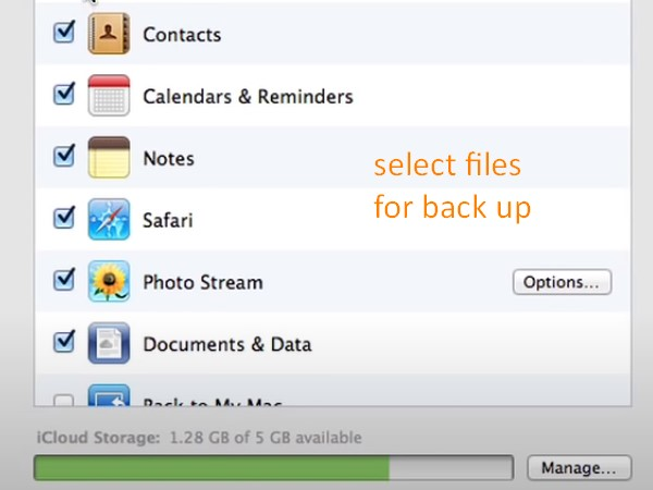 Back up Mac to iCloud - choose files on your Mac to be backed up to iCloud