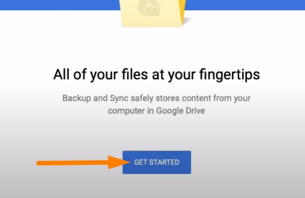 Backup Mac to Google Drive - sign in to your Google profile