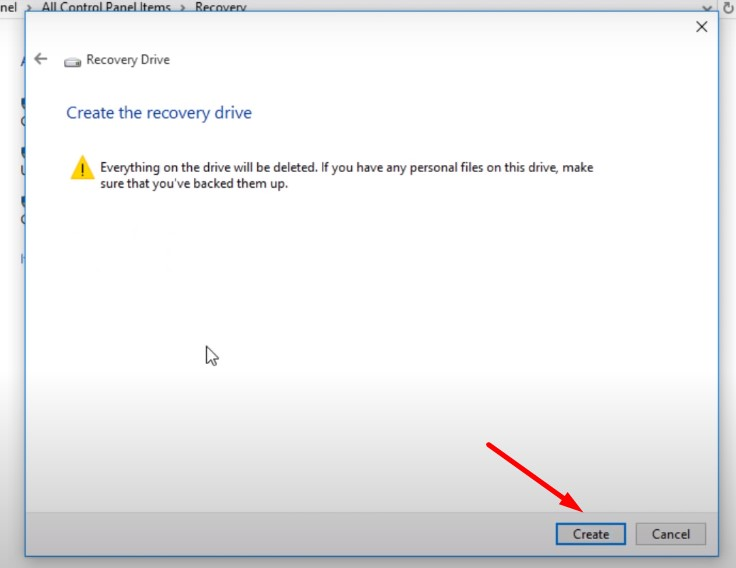 Backup Windows 10 to USB -