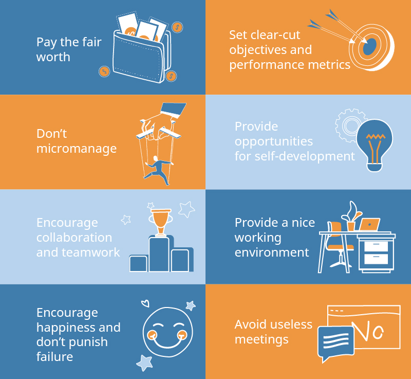 How to motivate your team for outstanding results - infographics